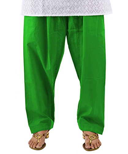 Pistaa Women's Pak Green Casual Cotton Readymade Salwar