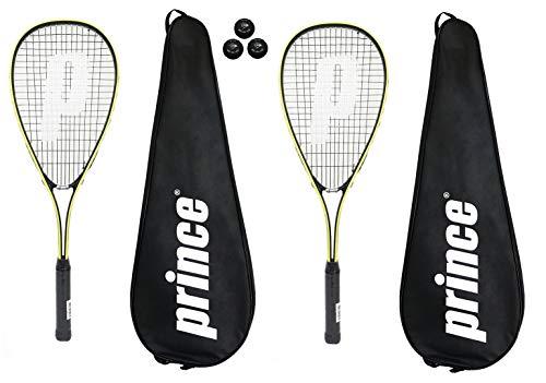 Prince Power PL150 Racchette da Squash + 3 Squash Balls and Covers