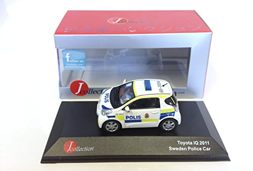 Toyota IQ 2011 Sweden Police Car Voiture 1/43 Japan JC247