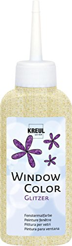 Kreul Window Color, 80ml Glitzer-Gold
