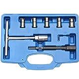 LXHSY Nettoyeur De Carbone, Outil De Nettoyage D'injecteur Diesel De 7 Pièces Nettoyant pour Injecteur D'injecteur D'injecteur Diesel