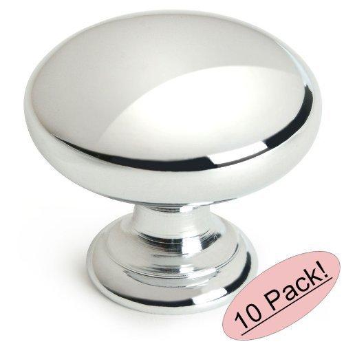 Cosmas 4950CH Polished Chrome Cabinet Hardware Round Mushroom Knob - 1-1/4 Diameter - 10 Pack by Cosmas -