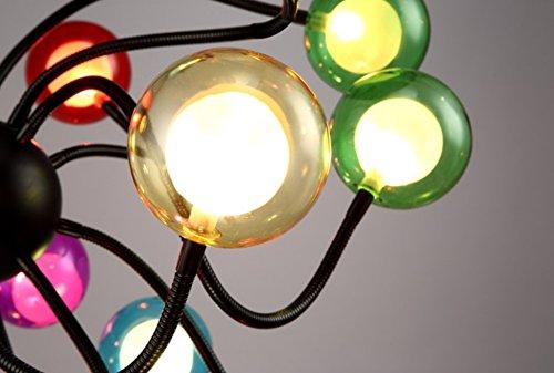 Moderne Pendelleuchte bunt 15 Glaskugeln Kronleuchter,Ø100cm - 4
