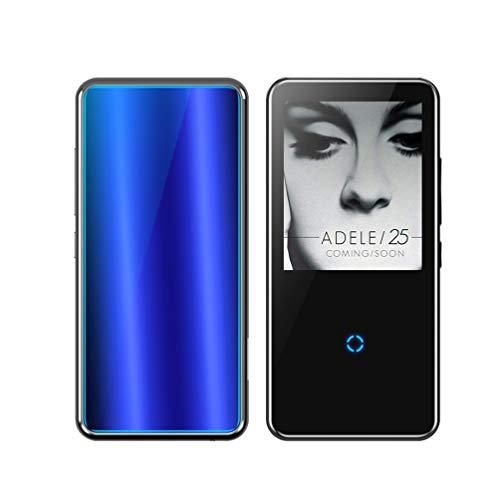 """XMAGG® MP3 Player, HiFi Bluetooth Digitales Audio Player 2.4\"""" Zoll Touch Taste Bildschirm 8G SD Karte Wiedergabe Sprachaufzeichnung FM Radio Recorder E-Book Reader,Blue,16G"""