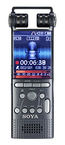 Soja Digital Voice Recorder, Stimme aktiviert Record-Sound Stereo Recorder wiederaufladbar Diktiergerät LCD-MP3-Player Flash Drive mit 8 GB/16GB built-in-memory für Klassen Vorträge Meetings Learning Notizen