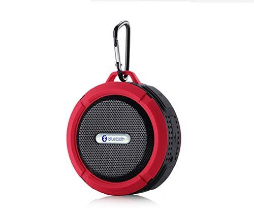 MIJIN Drahtlose Bluetooth 4.0 Stereo Portable Speaker eingebaute mic Schock-Resistance IPX6 Waterproof Speaker mit Bass,Red (Surround-sound-system 1000w)