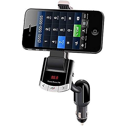 powerlead CKIT auto Trasmettitore FM Wireless Bluetooth per musica, chiamate in vivavoce, porta di ricarica USB per Andorid e iPhone trasmettitore FM Radio adattatore caricatore auto Kit