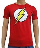 DC Comic T-Shirt à logo Flash vintage Rouge Taille L