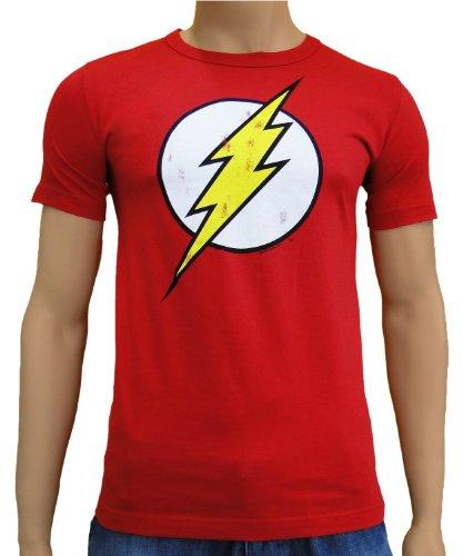 DC - Flash Logo Vintage Logoshirt T-Shirt Red, XS