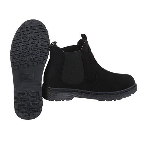 Chaussures femme Bottes et bottines Bloc Chelsea Bottes Ital-Design Noir