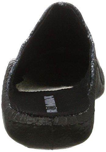 Romika Damen Mokasso 125 Pantoffeln Mehrfarbig (grau-multi)