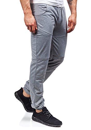 BOLF Herrenhose Baggy Sporthose Trainingshose Jogginghose Fitnesshose Mix 6F6 Grau_6015