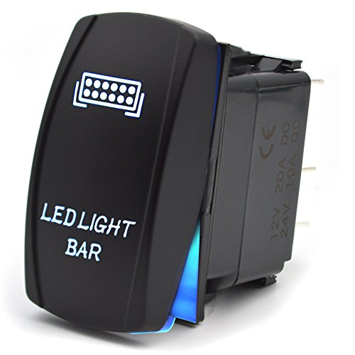 Interrupteur à bascule Commutateur de Tableau de bord 5 Broches ALLUMÉ ÉTEINT Pour la Barre de Lumière Menée de Voiture 12V 20A 24V 10A Bleu