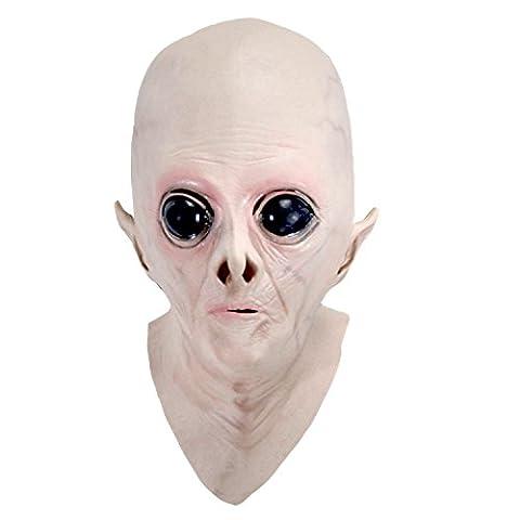 Vococal® Masque Halloween Effrayant Latex UFO Alien