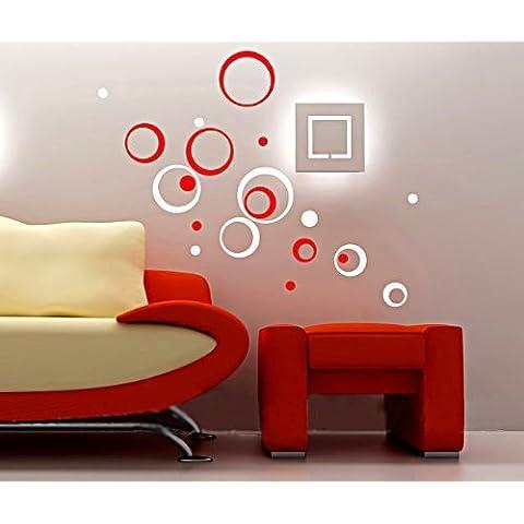 Intorno a tre-dimensionale adesivi creativi muro