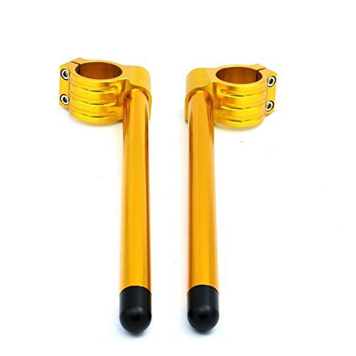 Preisvergleich Produktbild Gabel des Lenker der Stange des Lenker der Griff der Clip von CNC-Alpha Rider Universal Paar 52mm für Suzuki SV6501999–2007 gold