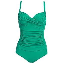Imposes Mujer Bañadores de Una Pieza Playa Piscina Bikinis Ropa de Baño Verde Talla-14