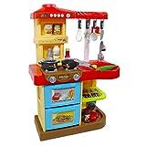 """deAO Kinder-Küchenspielset """"My Little Chef""""(""""Mein kleiner Koch"""") mit 30-teiligem Zubehör in den Farben Rot oder Pink erhältlich - 6"""