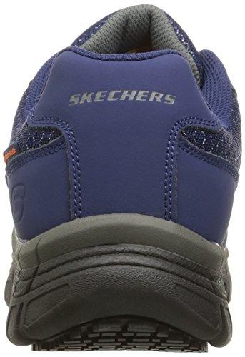 Skechers Work Mens Conroe Dierks Slip Resistant Work Shoe Navy