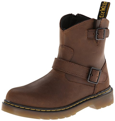 Dr. Martens Lydia, Boots mixte enfant Marron (Dark Brown Burnished Wyoming)