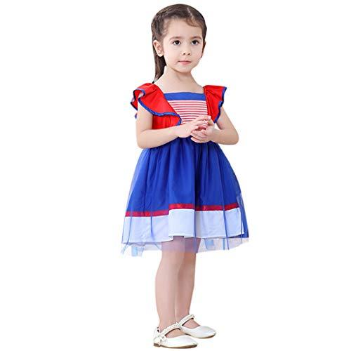 RYTEJFES Halloween Kostüm Kinder Mesh Spitzenrock Cosplay Kostüm Overalls Kleidung Set Mädchen Cartoon Eisprinzessin - Little Sister Cosplay Kostüm