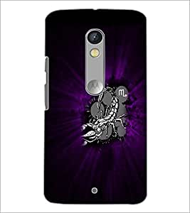 PrintDhaba Scorpio D-4728 Back Case Cover for MOTOROLA MOTO X PLAY (Multi-Coloured)