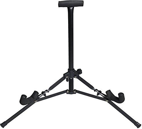 Juârez JRZ150 Mini Foldable Compact Vertical Floor Guitar Stand Tripod for Acoustic / Electric Guitars, Violin, Ukulele, Black