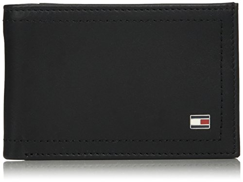 Tommy Hilfiger Harry Mini CC Coin Pocket Wallet, Bolsa y Cartera para Hombre, Negro (Black), 3x9.7x13 cm (W x H x L)