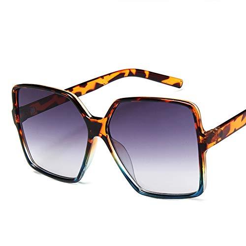 YYTT Sonnenbrillen Frauen Retro Leopard-Rahmen UV-Schutz Im Freien Reiten Strand Urlaub UV Damen Sonnenbrille,007