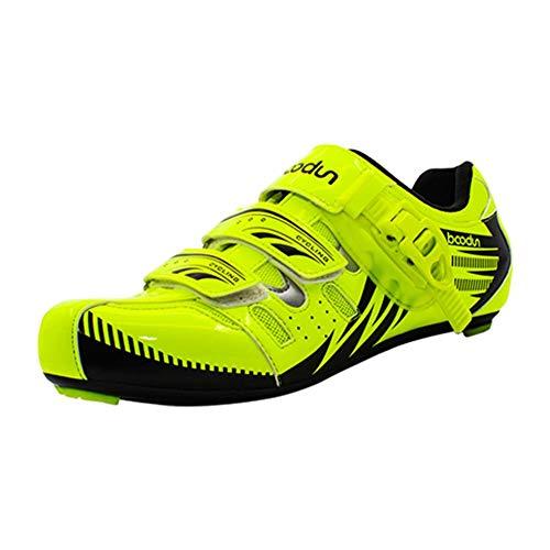 Bulary Zapatillas de Ciclismo, Zapatillas de Ciclismo de Carbono, Zapatillas de Bicicleta de Carretera Transpirables Antideslizantes Vehículos Ligeros Antideslizantes Transpirables Zapatos de Bloqueo