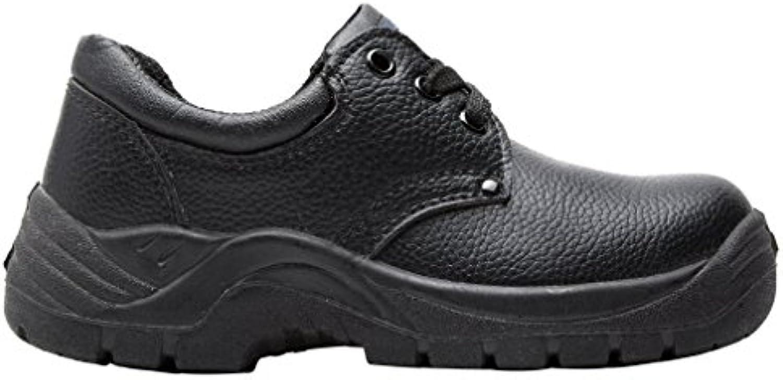 Pro Hombre Hombre Chukka Zapatos Botas de Paseo Negro, Negro, 37