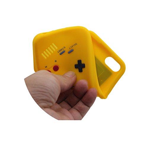 iPhone 7 Hülle, Dünn & Leicht Prämie Weich Silikon Kunststoff Original Klassisch Game Boy 3D Gestalten Serie Schutzhülle Case Anti-Schock für Apple iPhone 7 4.7 inch gelb