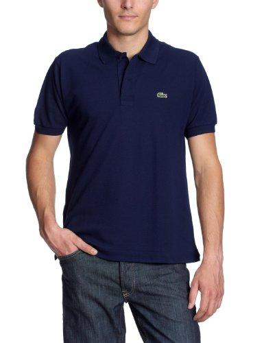 Lacoste Herren Regular Fit Poloshirt L1212 Einfarbig, Blau (Marine), XXL (Herstellergröße: 7)