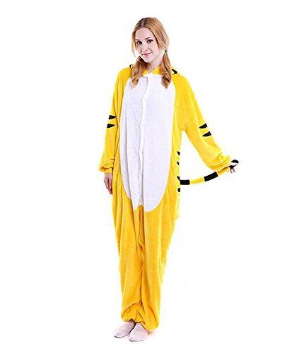 ABYED® Kigurumi Pigiama Anime Cosplay Halloween Costume Attrezzatura,giallo Tigre Taille adulte XL -pour Hauteur 175-183CM