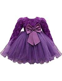 Abito Vestito Floreale Bambino Ragazza Bowknot Festa di Carnevale  Principessa Damigella d Onore Pageant Toga 837f71e5057