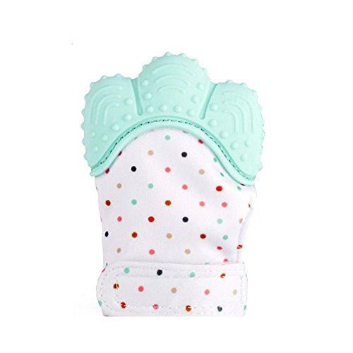 5 manopla de dentición para bebé, de AOLVO, incluye clip para chupete de...