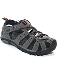 PDQ Boys Toggle Velcro Summer Trail Sandals Grey