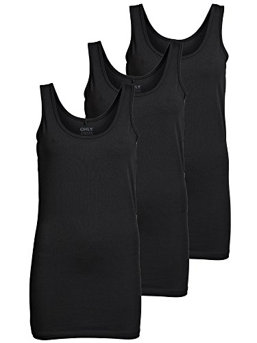 3er Pack ONLY Damen Basic Tops Tank Top Das klassische Basic unter Bluse, Hemd oder einfach pur zu Jeans oder Pants - Die Basic Tank Tops von ONLY für Damen! Der 3er Pack dieses modischen Basics für jedes Outfit ist in sieben modischen und gedeckten ...