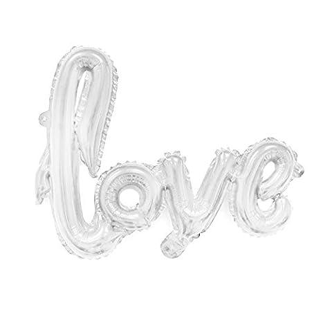 sourcingmap® Maison aluminium en forme ballon inflation AMOUR Mariage Décoration Célébration 30 pouces