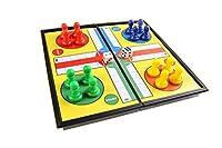 Magnetisches Brettspiel (Super Mini Reise-Edition): Ludo - magnetische Spielsteine, Spielbrett zusammenklappbar, 13cm x 13cm x 1, 2cm, Mod. SC5224 (DE)