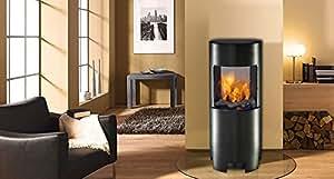 Cheminée colonne cheminée à l'éthanol cheminée-noir-gel-cheminée bioéthanol#3