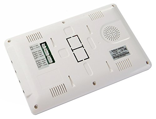 "AMOCAM Video Intercom Entry System, Wired 7"" LCD Monitor Video Door Phone Kits, 4 Units Apartment Video Doorbell, Support Monitoring, Unlock, Dual way Door Intercom, IR Night Vision, 1 Camera 4 screen"