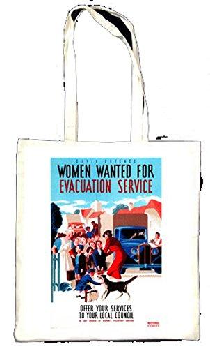 Femmes Wanted pour évacuation Service Totebag
