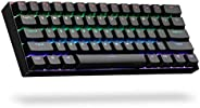 ANNE PRO 2, 60% Wired/Wireless Mechanical Keyboard (Gateron Brown Switch/Black Case) - Full Keys Programmable
