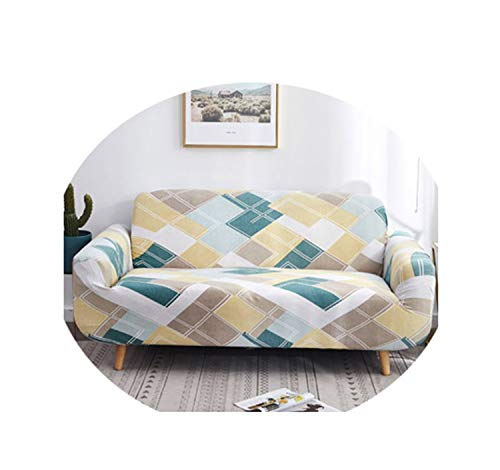 Geometric Patterns Sofa Cover Slipcover Sofa for Sofa Towel Living Room Furniture Protective Armchair Couches Sofa 1/2/3/4 /1Pcs 2 Two seat Sofa