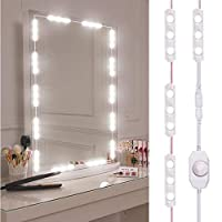 sycamorie Vanity Mirror Lights Hollywood Style LED Mirror Lights 10 Dimmable Bulbs Kit For Makeup Dressing Table