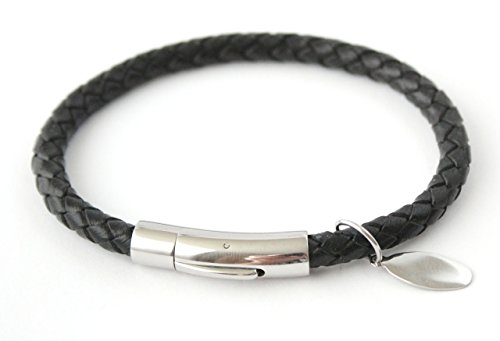 roma-black-leather-mens-personalised-bracelet-free-engraving-with-names-birthday-message-etc-gift-bo