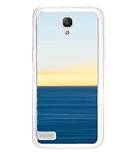PrintVisa Designer Back Case Cover for Xiaomi Redmi Note :: Xiaomi Redmi Note 4G :: Xiaomi Redmi Note Prime (Horozon Plain pattern With Sky Colour)