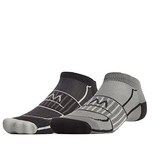 Active Performance No-Show Socken (2 Stück), Herren, Schwarz/Charcoal, Large ()