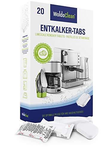 WoldoClean Pastillas descalcificadoras 20x 16g para máquinas de café - Totalmente automáticas...